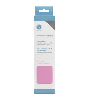 """Silhouette Smooth Heat Transfer Material 9""""X36""""-Pink"""