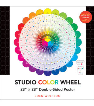 """Studio Color Wheel 28""""X28"""" Double-Sided Poster-"""
