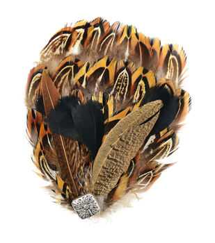 "Feather Pad 5.25""X4.25"" 1/Pkg-Natural Pheasant"