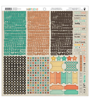 "True Friend Cardstock Stickers 12""X12""-Fundamentals"