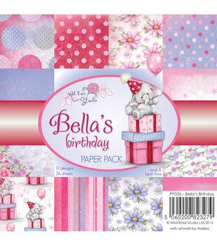Wild Rose Studio Bella's Birthday Paper 6''x6''