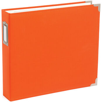 """Project Life Cloth D-Ring Album 12""""X12""""-Clementine"""