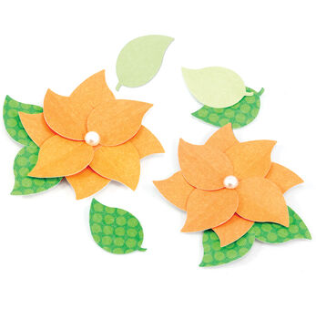 EK Success Nesting Paper Punch Green Leaf