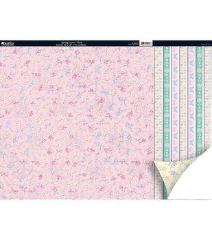 Kanban Seasons 2-Sided Cardstock 12X12-Spring Leaves Pink