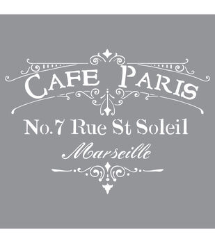 Decoart Cafe Paris - American Decor Stencil