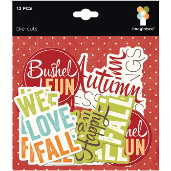 Imaginisce Bushels O' Fall Cardstock Die-Cuts Phrases