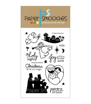 Paper Smooches A Blessed Christmas Clear Stamps