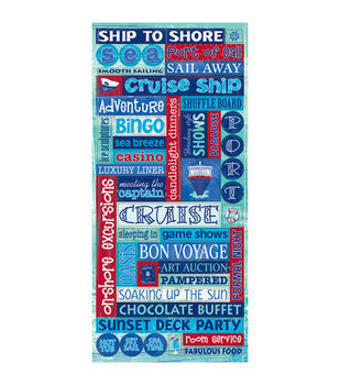 Sandylion Glitter Stickers-Cruise Words