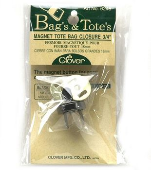 Clover Black Nickel Magnetic Tote Bag Closure 3/4""