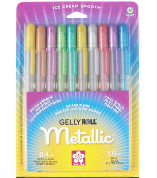 Sakura Gelly Roll Medium Point Pens-10PK/Metallic