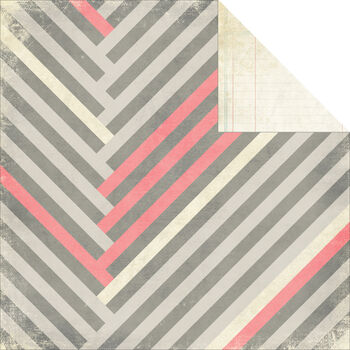 Glitz Design Love You Madly Stripe Double-Sided Heavy-Weight Paper