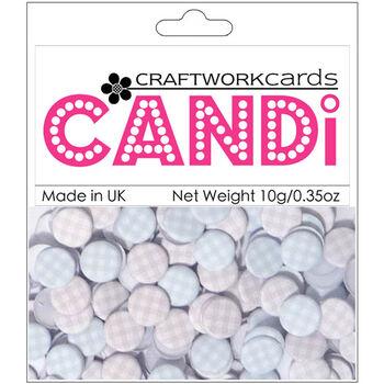 Craftwork Cards Candi Dot Printed Embellishments Fantasy