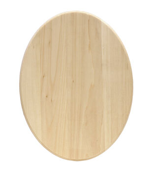 """Basswood Oval Plaque-11""""X14"""""""