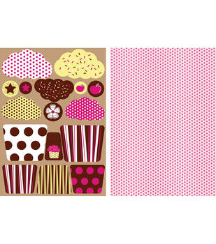 Kanban Die-Cut Punch-Out Card 2-Sheet-Fairy Cakes Chocolate Icing