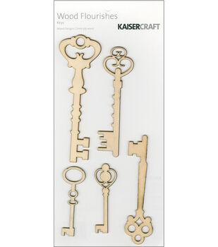 Kaisercraft Wood Flourishes-Keys