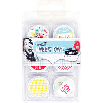 Docrafts Papermania Happy Days Bottled Decorative Toppers Hello Dolly