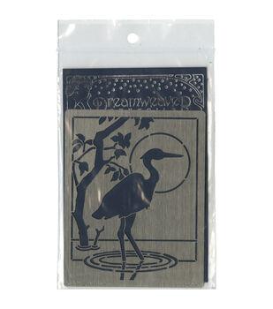 Stampendous Dreamweaver Metal Heron Stencil