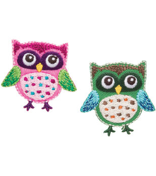 Simplicity Iron-On Appliques 2/Pkg-Owls