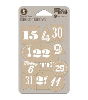 Hampton Art Holly Berry Borscht Mini Numbers Die-Cut Kraft Tags