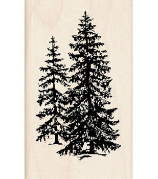 Inkadinkado® Rubber Stamp-Pine Trees