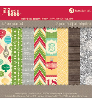 Hampton Art Holly Berry Borscht Paper Pad