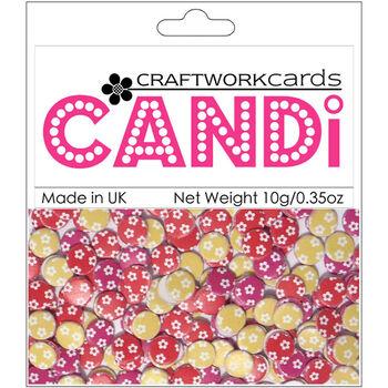 Craftwork Cards Candi Dot Printed Embellishments Elizabeth
