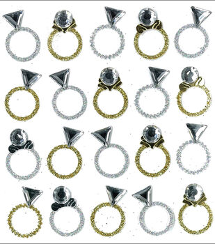 Jolee's Mini Repeats Stickers-Rings