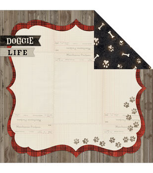 "Hound Dog Double-Sided Cardstock 12""X12""-Woof"