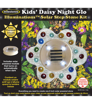 Mosaic Stepping Stone Kit-Kids' Daisy Night Glow