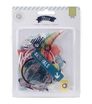 Pink Paislee Atlas Ephemera Clear & Cardstock Die-Cuts