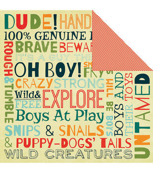 """Oh Boy - Be Different Double-sided Cardstock 12""""x12"""""""