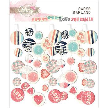 Glitz Design Love You Madly Paper Garland