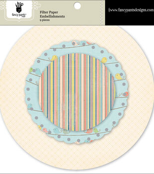 Fancy Pants Baby Mine Filter Paper Embellishments 9/Pk-Scallop
