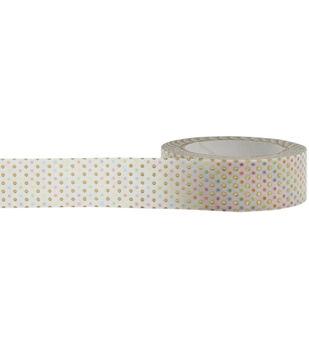 Little B Foil Tape 15mmX10m-Pastel Dots