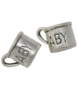 Silver embellishments 30/Pkg-Baby Cup