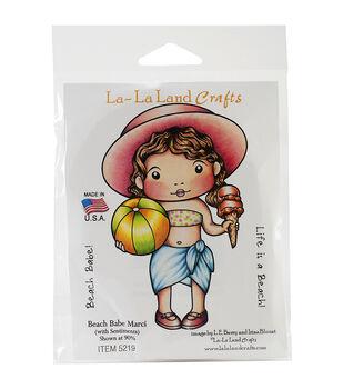 "La-La Land Cling Mount Rubber Stamps 4""X3""-Beach Babe Marci"