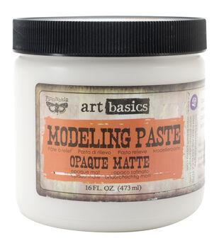 Opaque Matte-Art Modeling Paste 16 Oz
