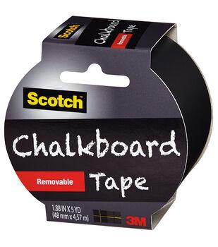 "Scotch (TM) Chalkboard Tape 1.88""X5yd-Black"