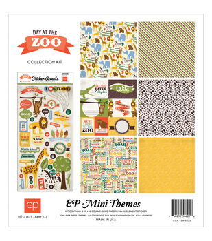 "Day At The Zoo Collection Kit 12""X12""-"