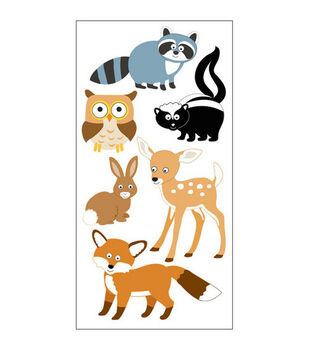 Sandylion Dimensional Stickers-Woodland Animals