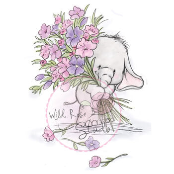 Wild Rose Studio Clear Stamp Set Bella With Posy