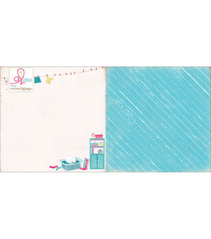 Webster's Pages Sweet Routine Laundry Day Double-Sided Cardstock