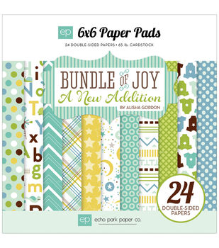 Echo Park Paper Company Bundle Of Joy A New Addition Baby Boy Paper Pad