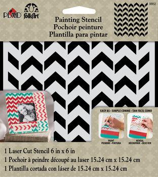 FolkArt ® Painting Stencils - Small - Petite Chevron