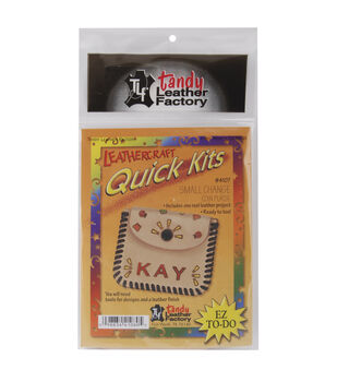 """Tandy Leather Factory Leathercraft Quick Kits-Coin Purse 3-1/4""""X3"""""""