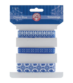 China Blue Trimmings 3 Styles/1 Yard Each-