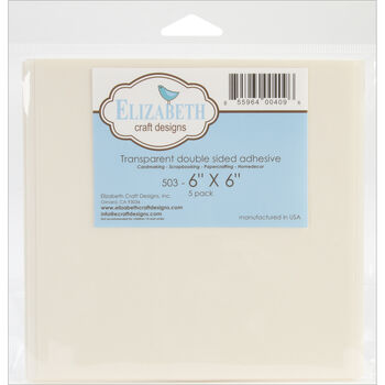 Elizabeth Craft Designs Transparent Double-Sided Adhesive 6'' x 6''
