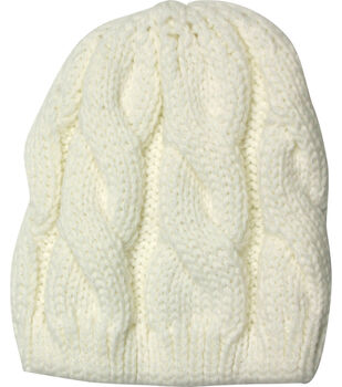 Laliberi Winter Knit Ivory Crochet Cap