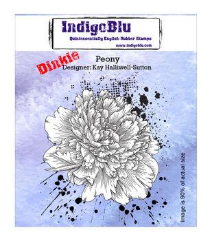 Indigoblu Peony Dinkie Cling Mounted Stamp