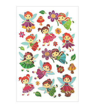 Forever In Time Laser Fairy Bloom Embossed Stickers